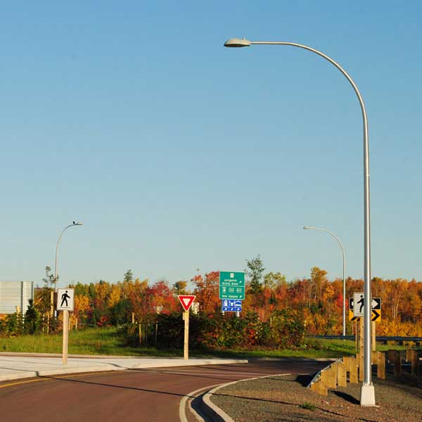 Highway 104 Antigonish Bypass Roundabout Lighting At Addignton Forks Exit 33 (2012)
